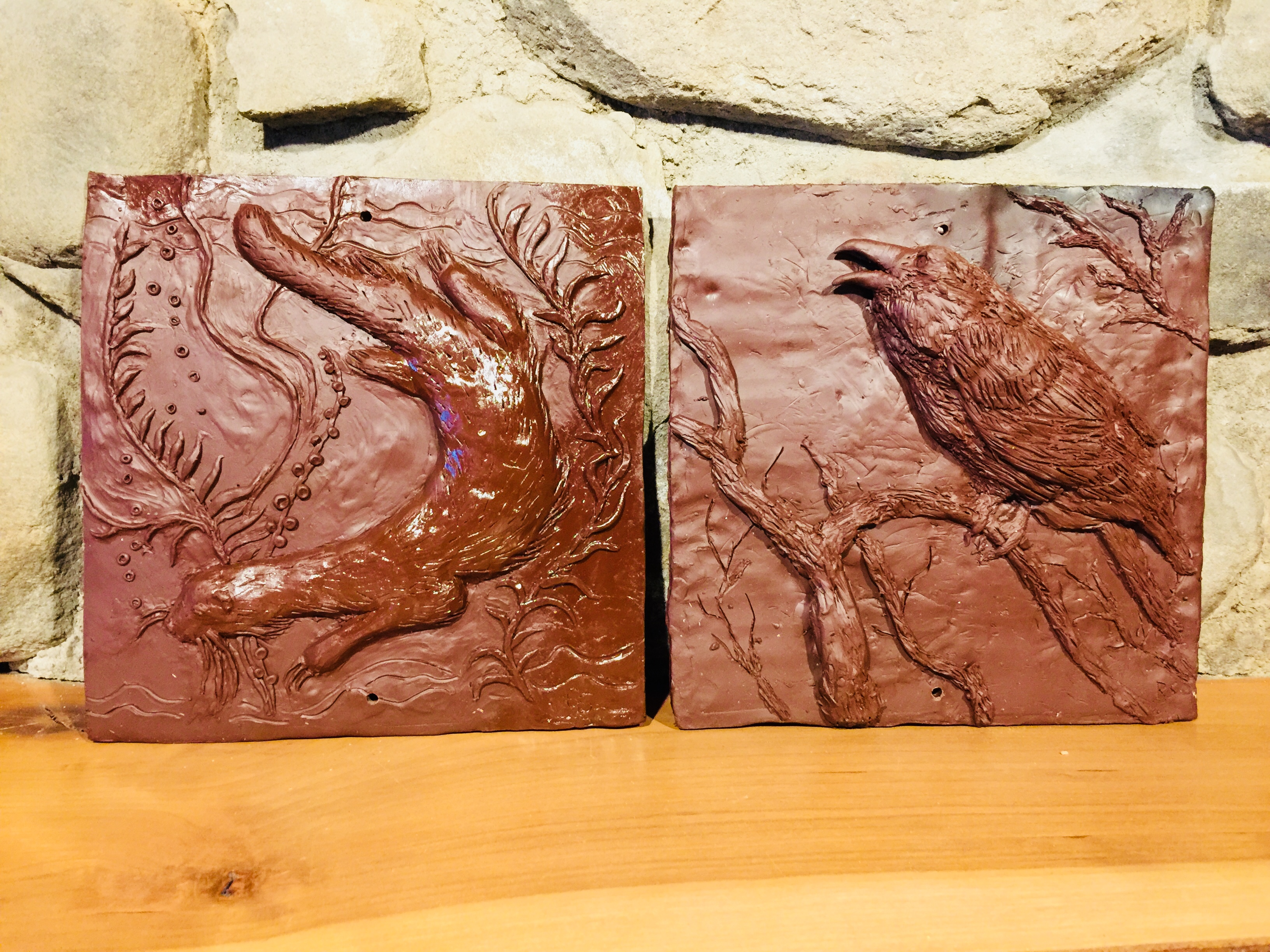 Fireplace Tiles by Sandy and Bob 1:29:2018
